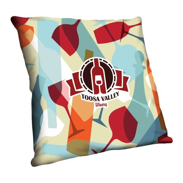"Full Color Throw Pillow, 16"" x 16"""