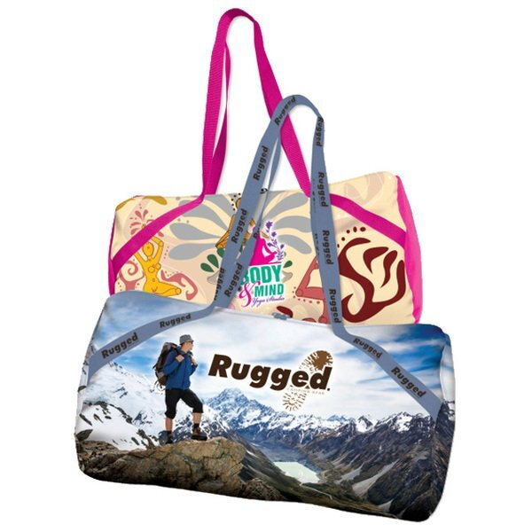 Full Color 600D Polyester Barrel Duffel Bag, 20""