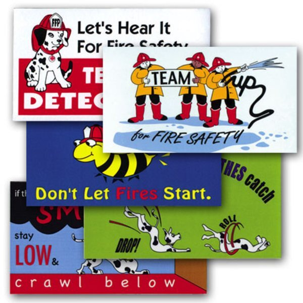 Fire Safety Assortment Business Card Magnets, Stock