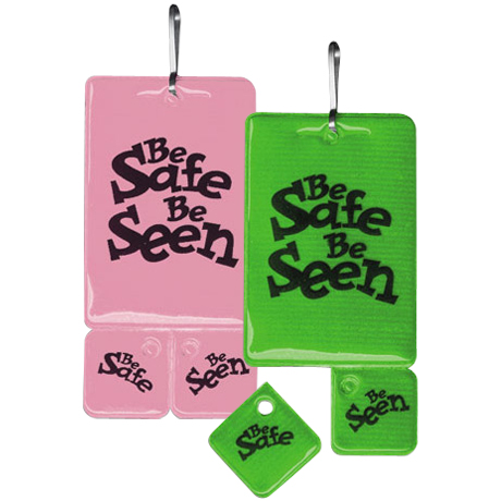 Be Safe Be Seen Reflective Zip-Tag™, Stock