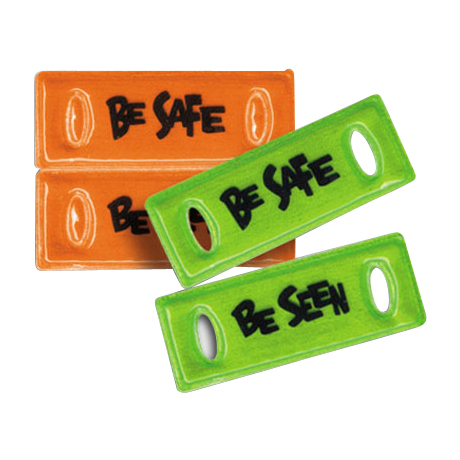 Be Safe Be Seen Reflective Shoe Lace-Tags, Stock