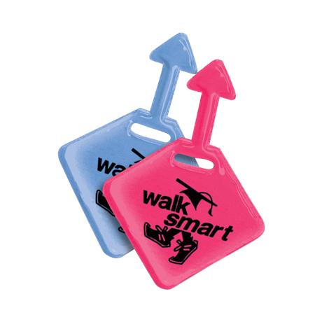 Walk Smart Reflective Loop Zipper Pull, Stock