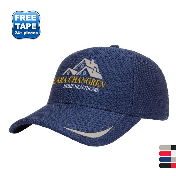 Textured Polyester Mesh Constructed Performance Cap