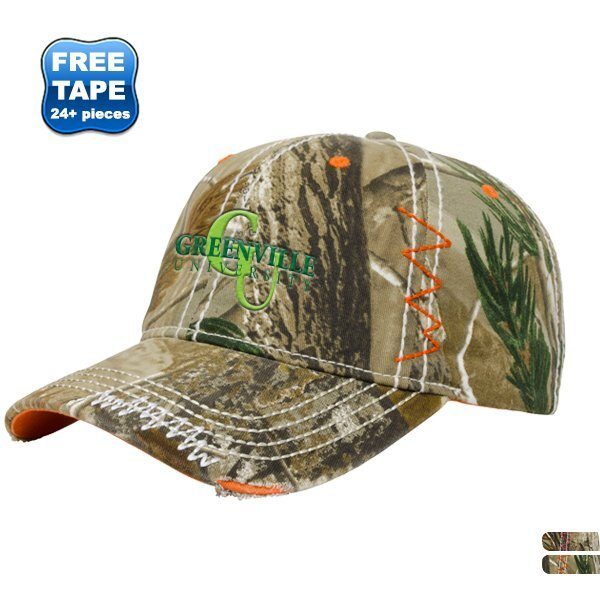 Accented Washed Realtree® Camo Twill Unconstructed Cap