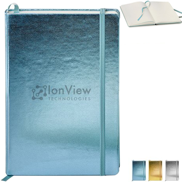Metallic Neoskin® Hard Cover Journal, 5-1/2
