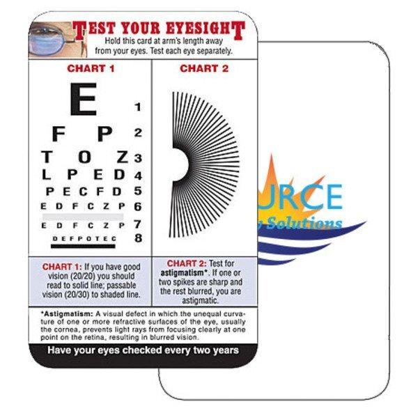 Vision Chart Wallet Card