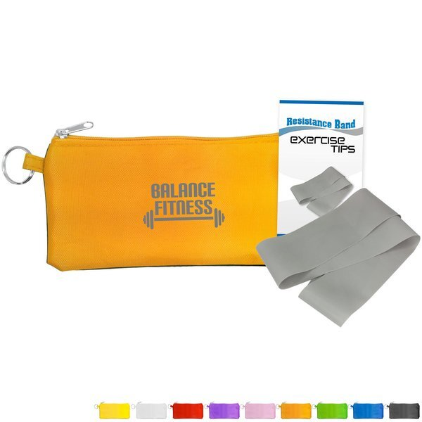 Stretchy Resistance Band With Travel Pouch