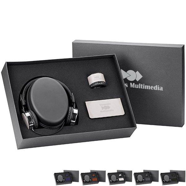 Fabrizio Headphones, Power Bank, and Speaker Gift Set, 6,000 mAh