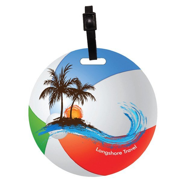 Recycled Mini Beach Ball Luggage Tag