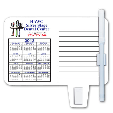 Magnet Calendar with Note Holder