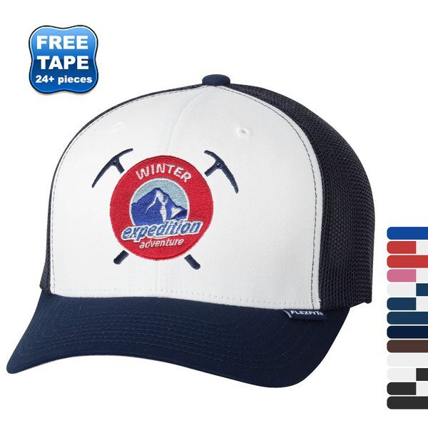 Flexfit® Trucker Constructed Fitted Cap with Mesh Back