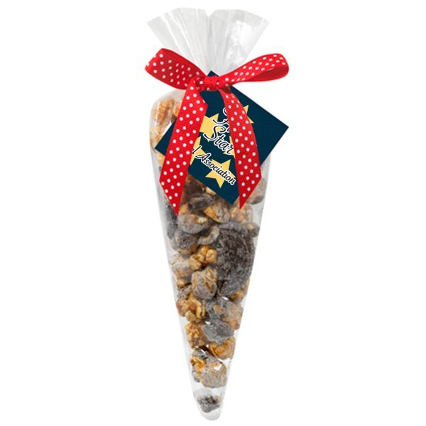 Cookies & Cream Popcorn Cone Gift Bag, Small