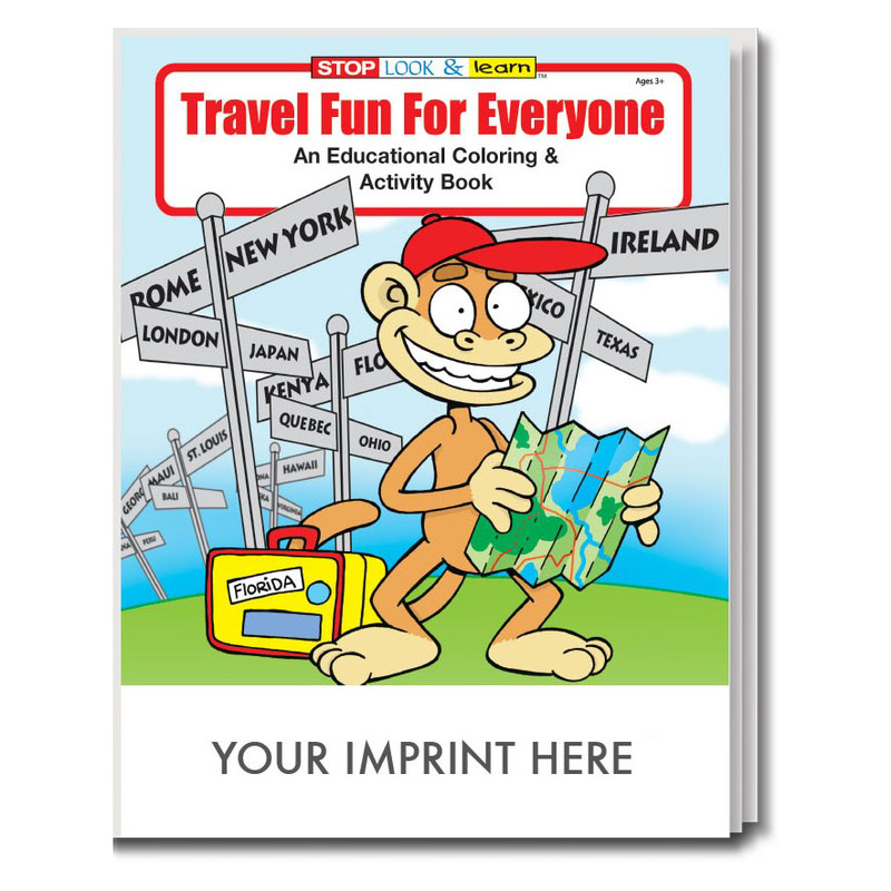 Travel Fun For Everyone Coloring & Activity Book