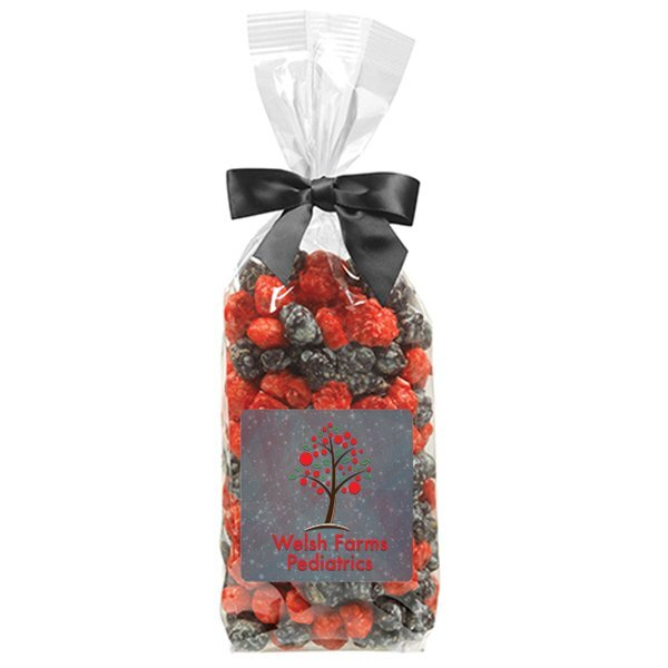Candy Coated Popcorn in Elegant Bow Bag