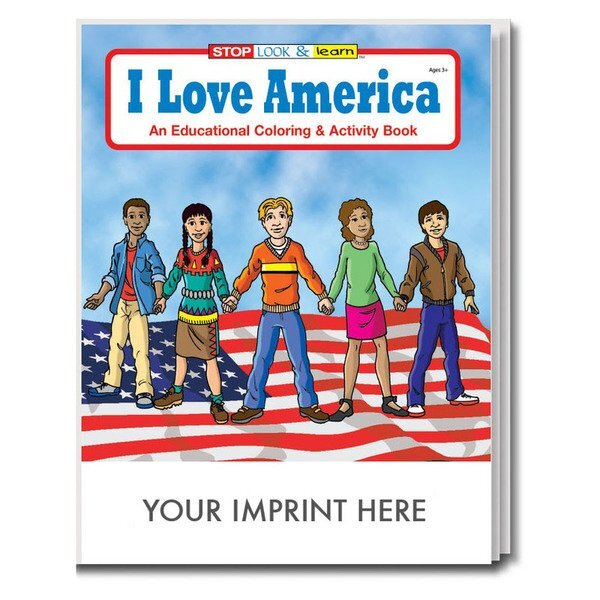 I Love America Coloring & Activity Book