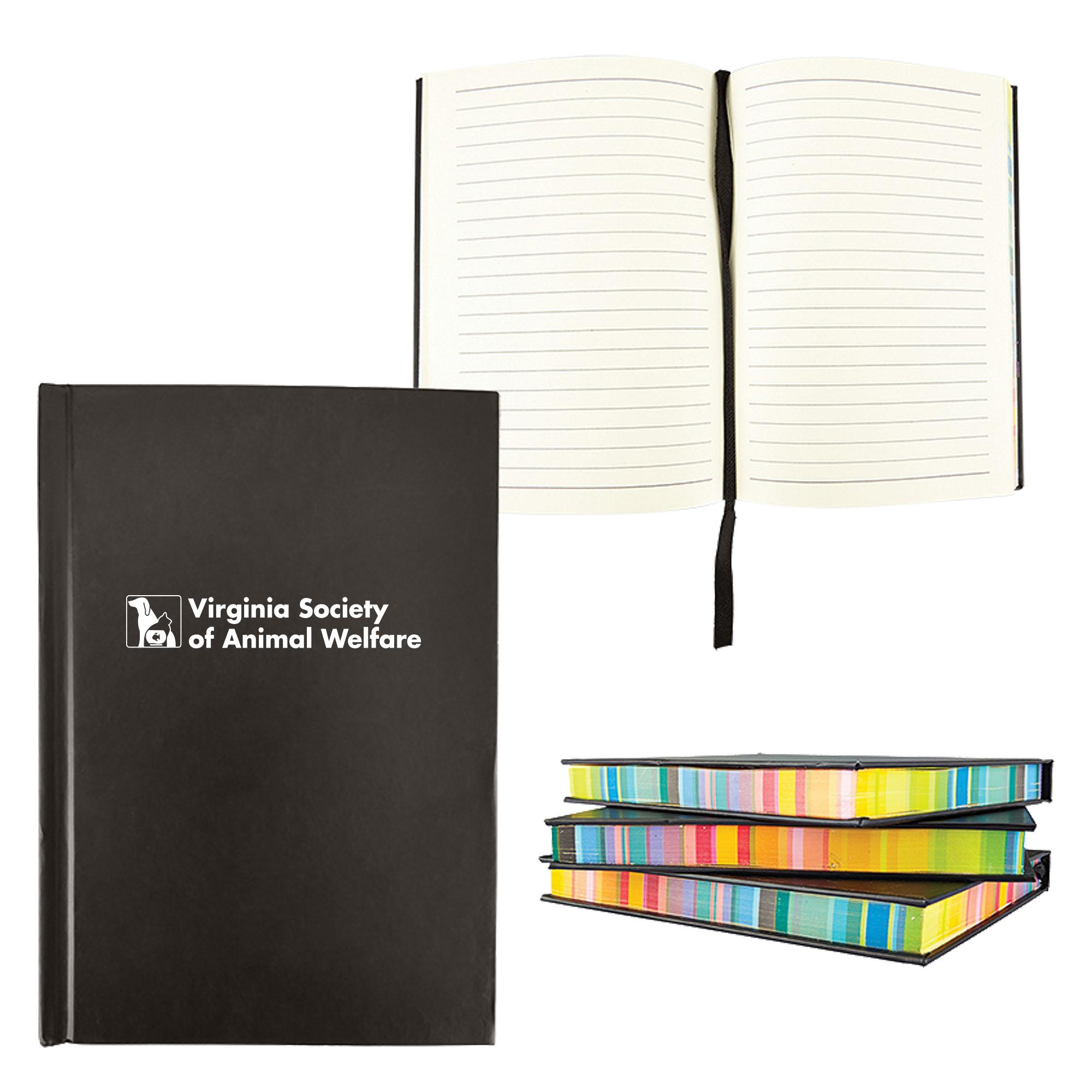 "Multi Color Edge Notebook, 4-1/2"" x 5-3/4"""