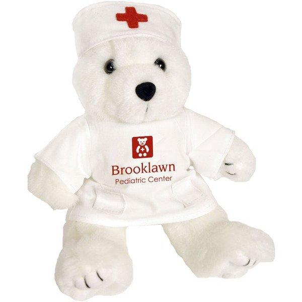 """Nurse Plush Bear, 8"""""""