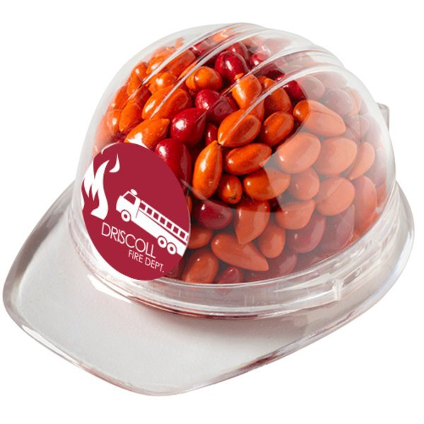 Hard Hat Candy Container with Chocolate Sunflower Seeds