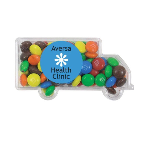 Truck Candy Container with M&Ms