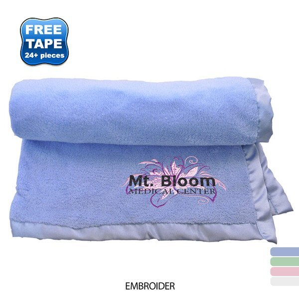 "Deluxe Plush Baby Blanket, 30"" x 40"""