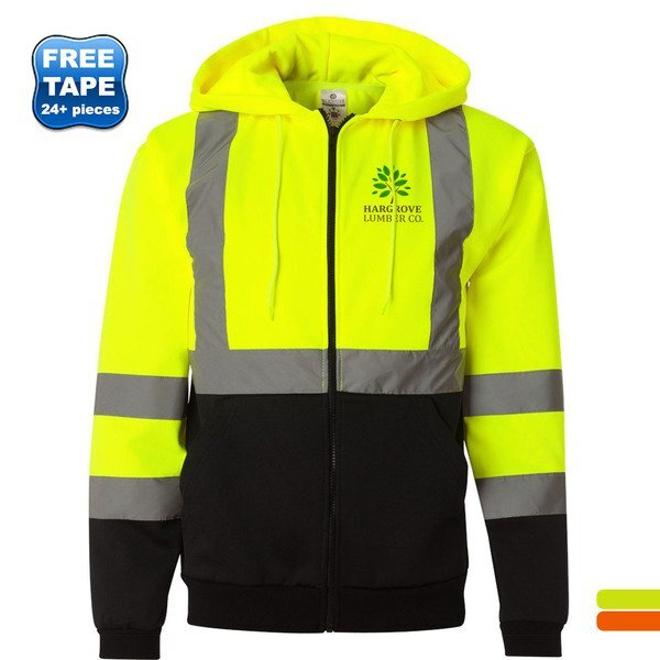 ML Kishigo®  Hi-Vis Hooded Full-Zip Men's Sweatshirt