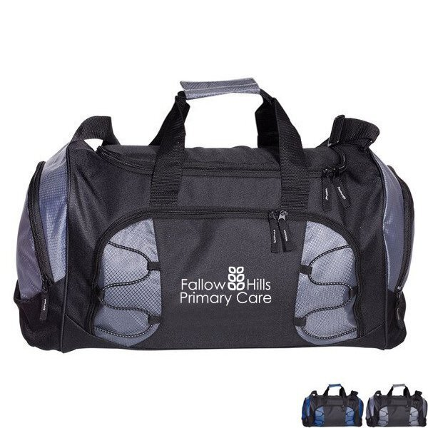 Diamond 600D Polyester Athletic Duffle Bag, 17""