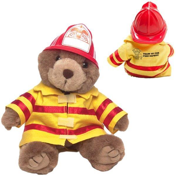 "Firefighter Plush Bear, 8"""