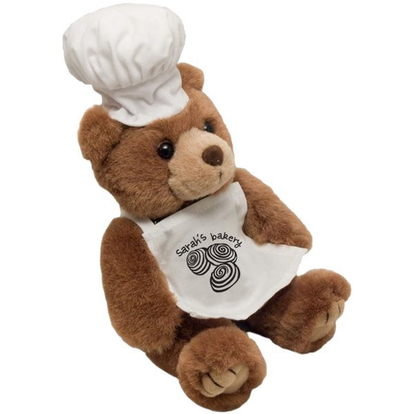 Chef Plush Bear, 8""
