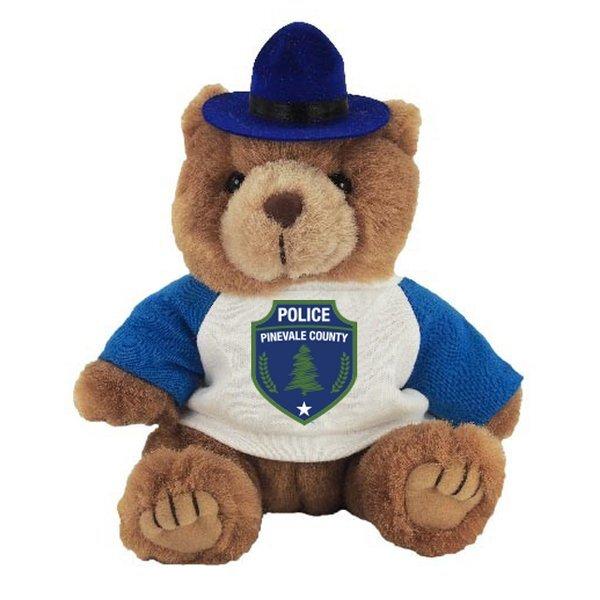 "Trooper Plush Bear, 8"" w/ Full Color Imprint"