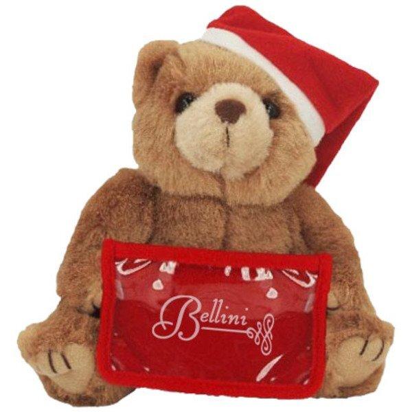 "Santa Plush Bear with Gift Card Holder, 8"""