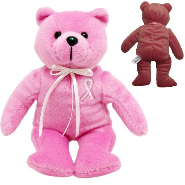 Breast Cancer Awareness Plush Bear, 8""