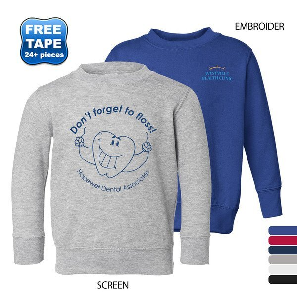 Rabbit Skins® Toddler/Juvy Crewneck Sweatshirt