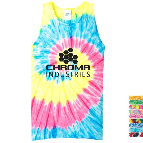 Port & Company® Essential Tie-Dye Men's Tank