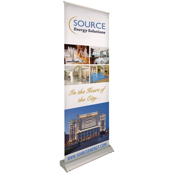 Deluxe Pro Retractor Banner Display Kit, Single-Sided