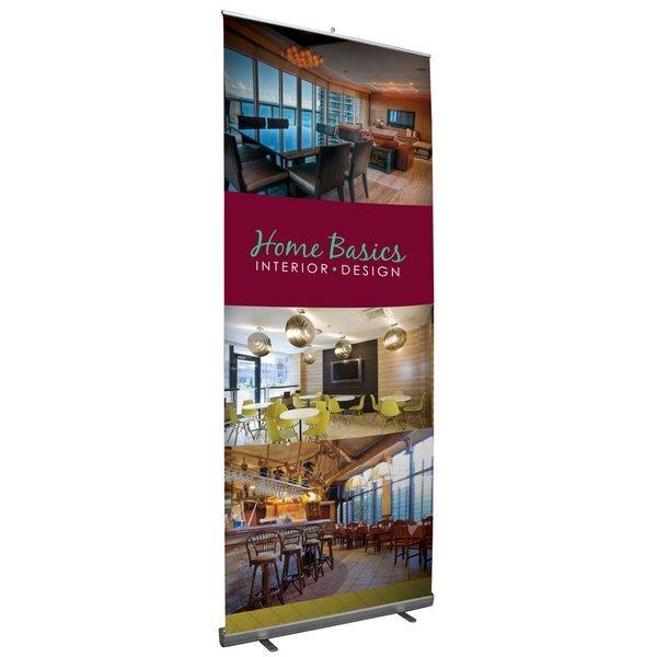 Jumbo Tall Retractor Opaque Fabric Banner Display Kit, 10'