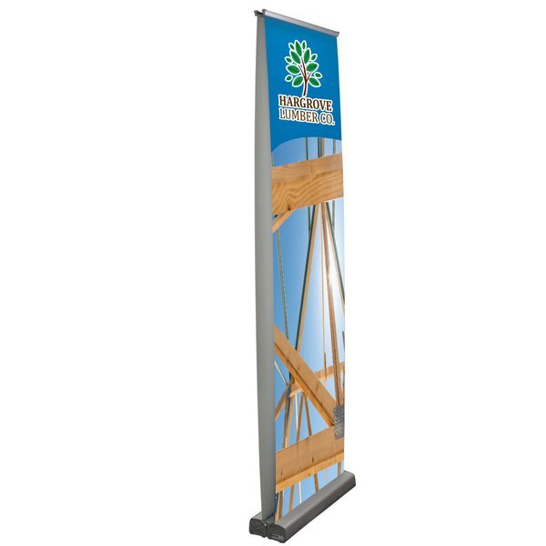 "Optimum Retractor Opaque Fabric Banner Display Kit, 24"" - Double Sided"