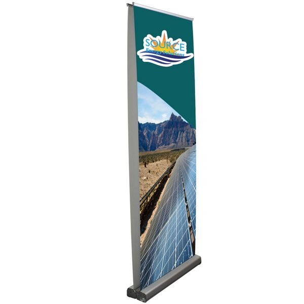 Optimum Retractor Opaque Fabric Banner Display Kit, Double-Sided