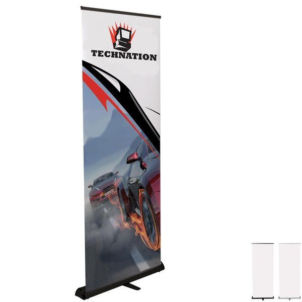 """Standard Telescoping Retractor Banner Display Kit, 82""""H"""