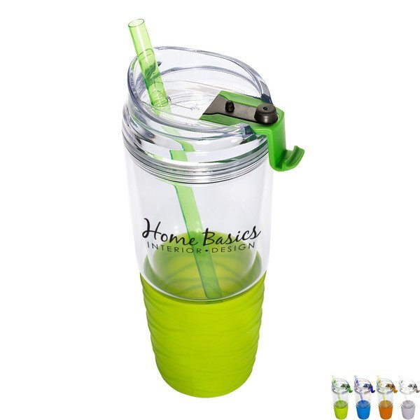 Quench™ Acrylic Tumbler with Straw, 22oz.