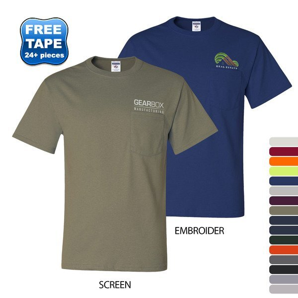 JERZEES® Dri-Power® Active 50/50 Men's Performance Pocket Tee