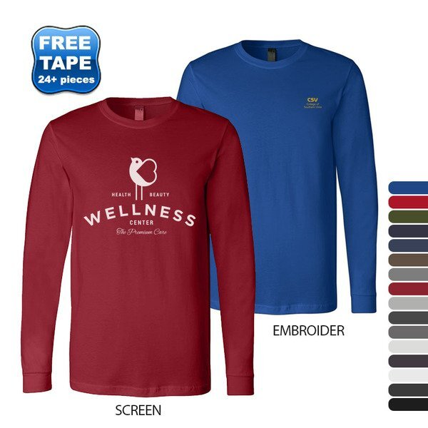Bella + Canvas® Cotton Jersey Men's Long Sleeve Tee