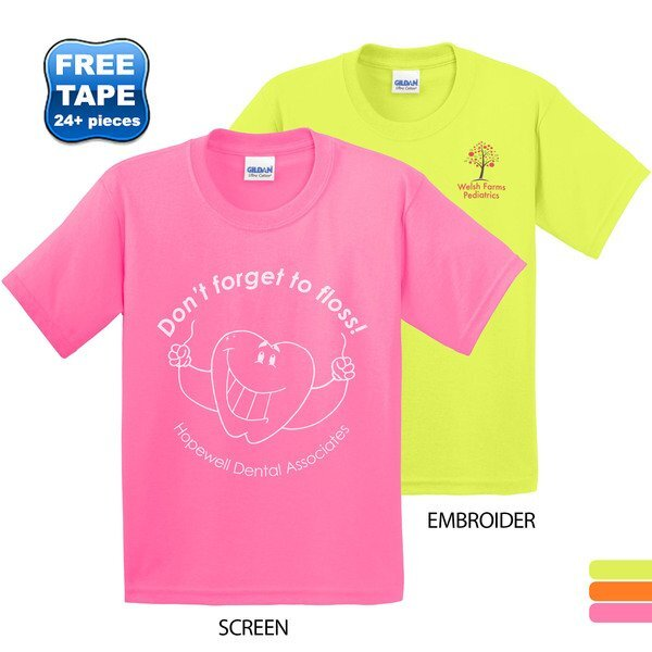Gildan® Ultra Cotton™ 50/50 Youth Tee, Safety Colors