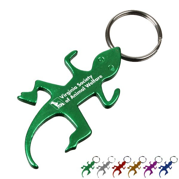 Lizard Bottle Opener Keytag