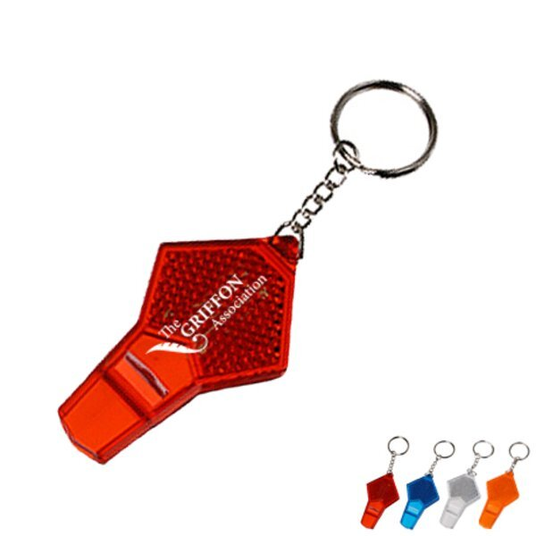 Reflective Safety Whistle Keychain