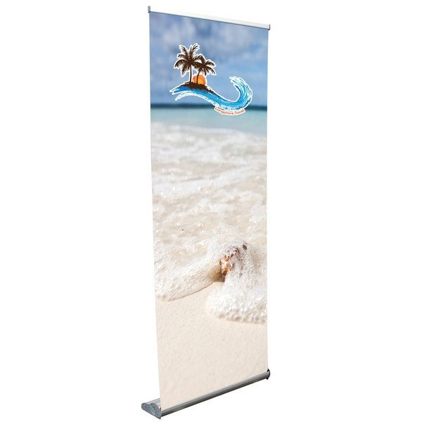 Stratus Retractor Opaque Fabric Banner Display Kit, 31-1/2""