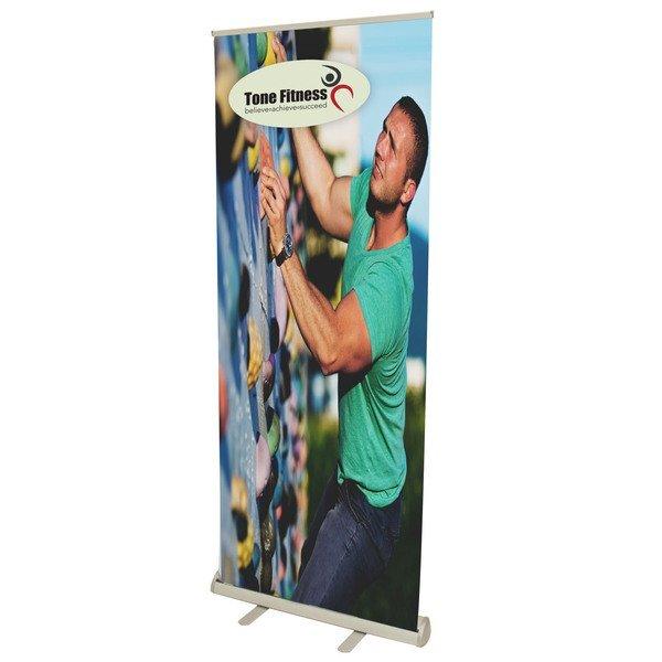Value Retractor Laminated No Curl Banner Display Kit