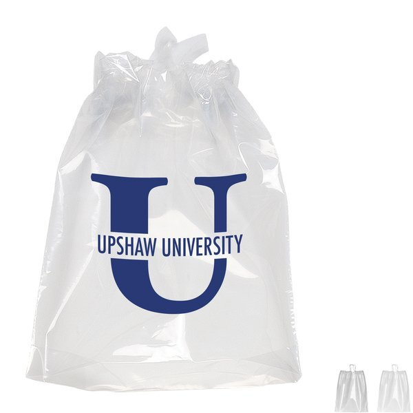 "Poly Drawstring Plastic Bag, 9-1/2"" x 12"""