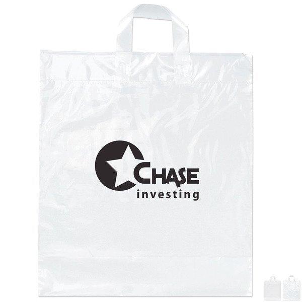 """Plastic Grab Bag with Loop Handles, 16"""" x 18"""""""