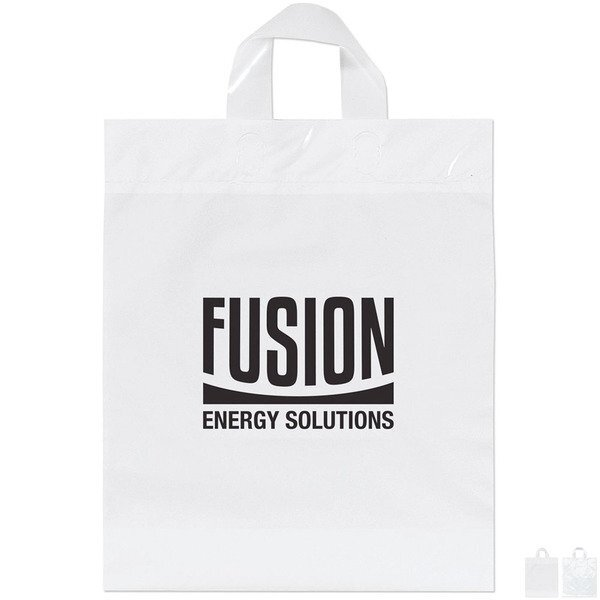 """Plastic Grab Bag with Loop Handles, 13"""" x 15-1/2"""""""