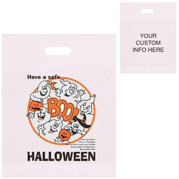 "Halloween Boo Ghost Plastic Bag, 12"" x 15"""